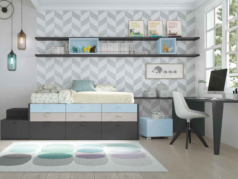 Camas compactas y camas nido en Muebles Gazapo